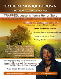 Tahiera Monique Brown Speaker One Sheet